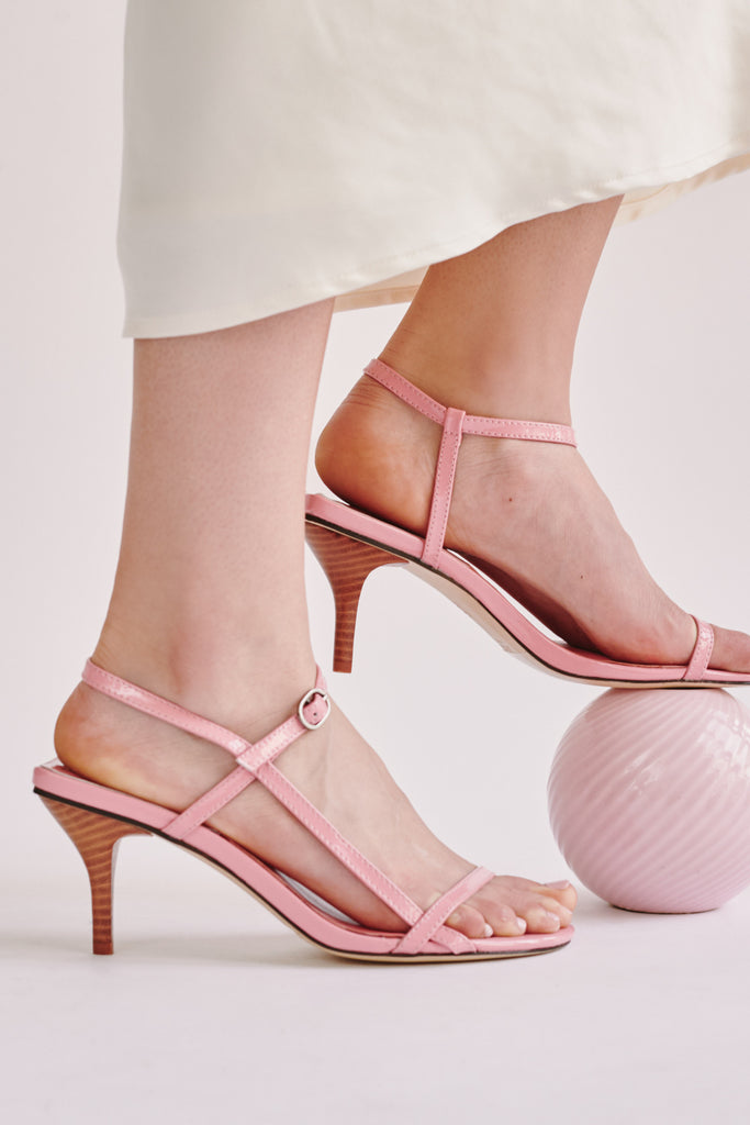 STRAPPY PATENT SANDAL candy pink