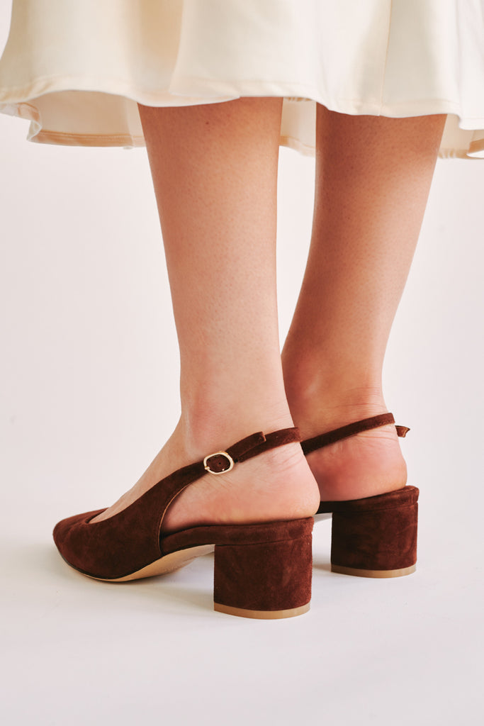 SOLACE SLINGBACK PUMP chocolate