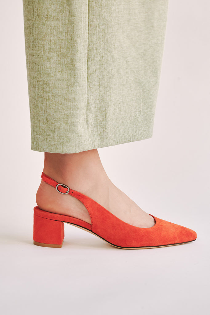 SOLACE SLINGBACK PUMP orange