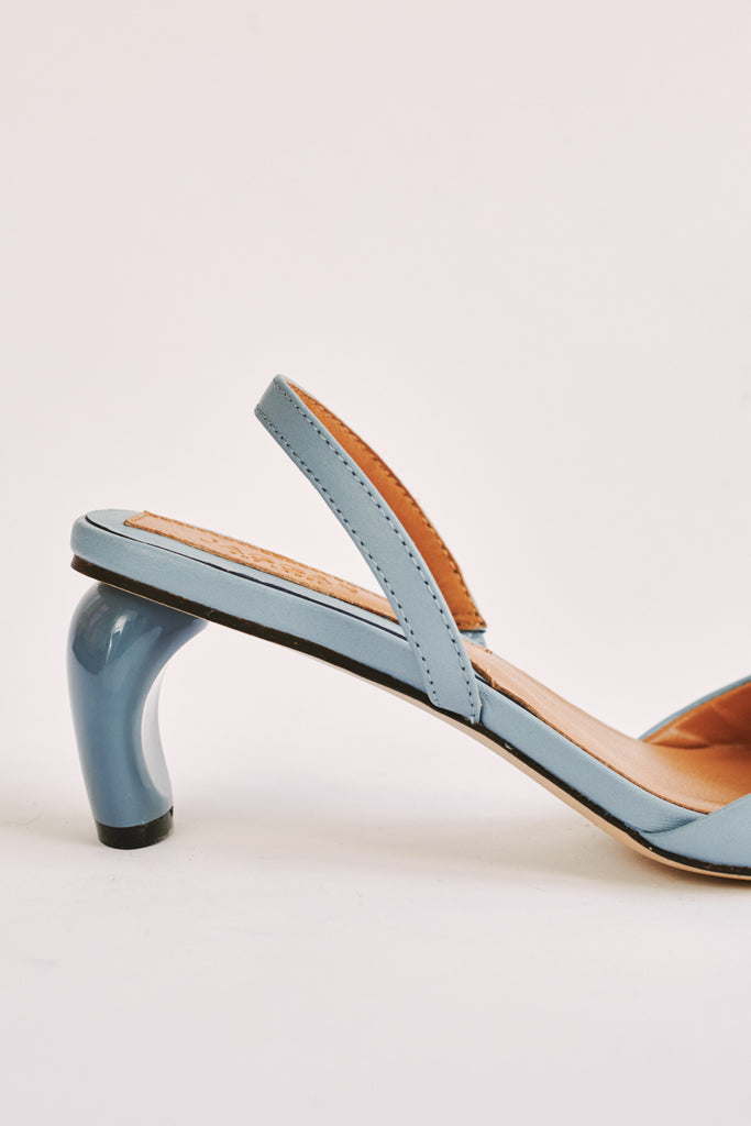 VIRTUE LEATHER SLINGBACK sky blue