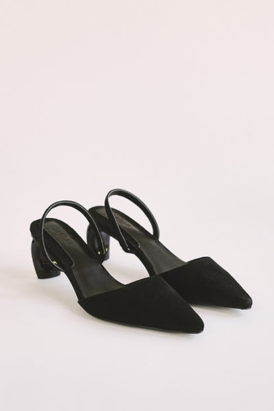 VIRTUE SUEDE SLINGBACK black