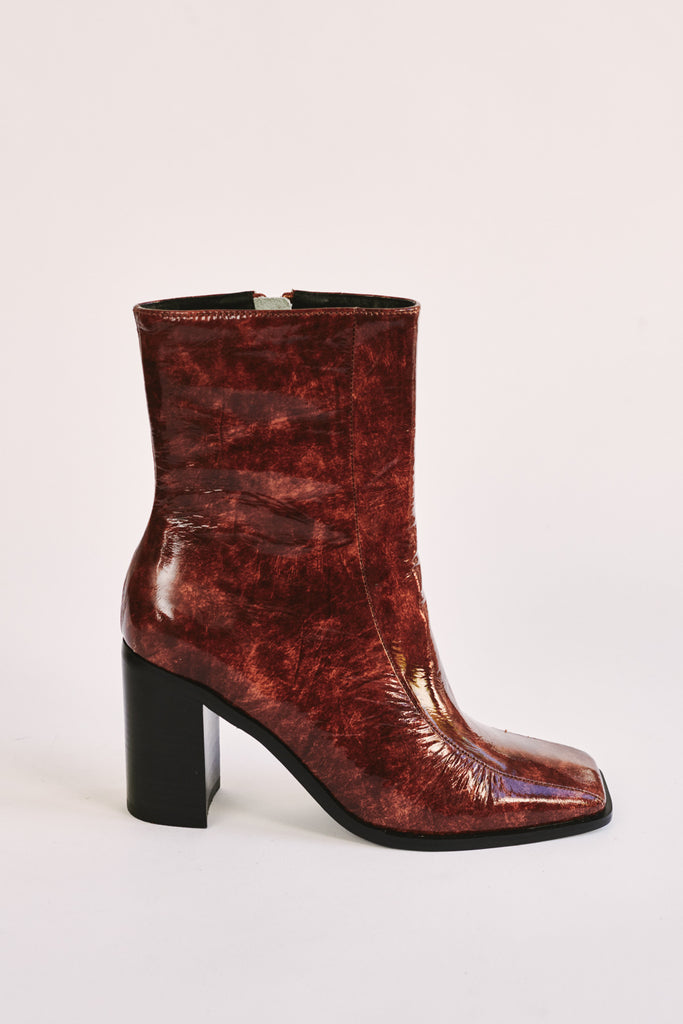 BOLD ANKLE BOOT chocolate