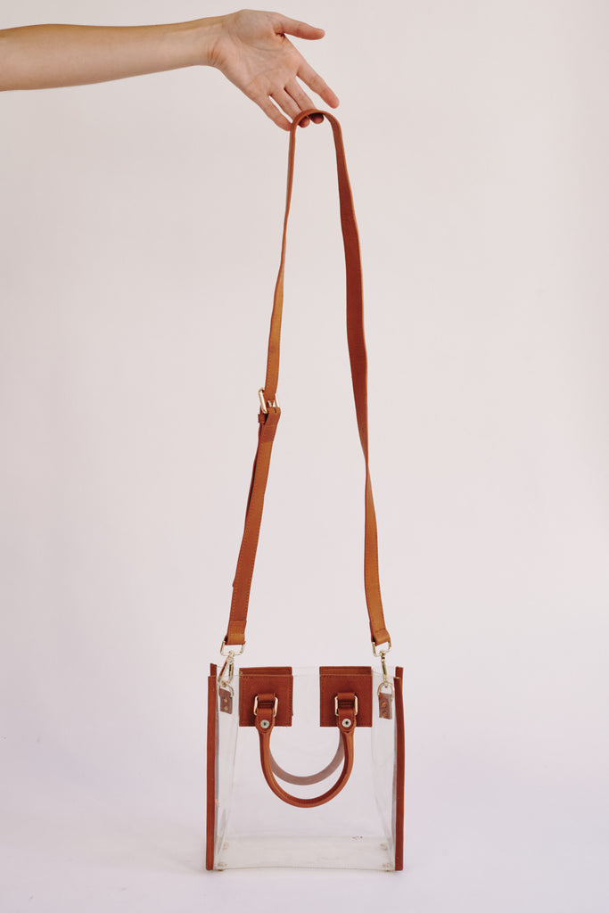TRANSPARENT PVC BAG tan