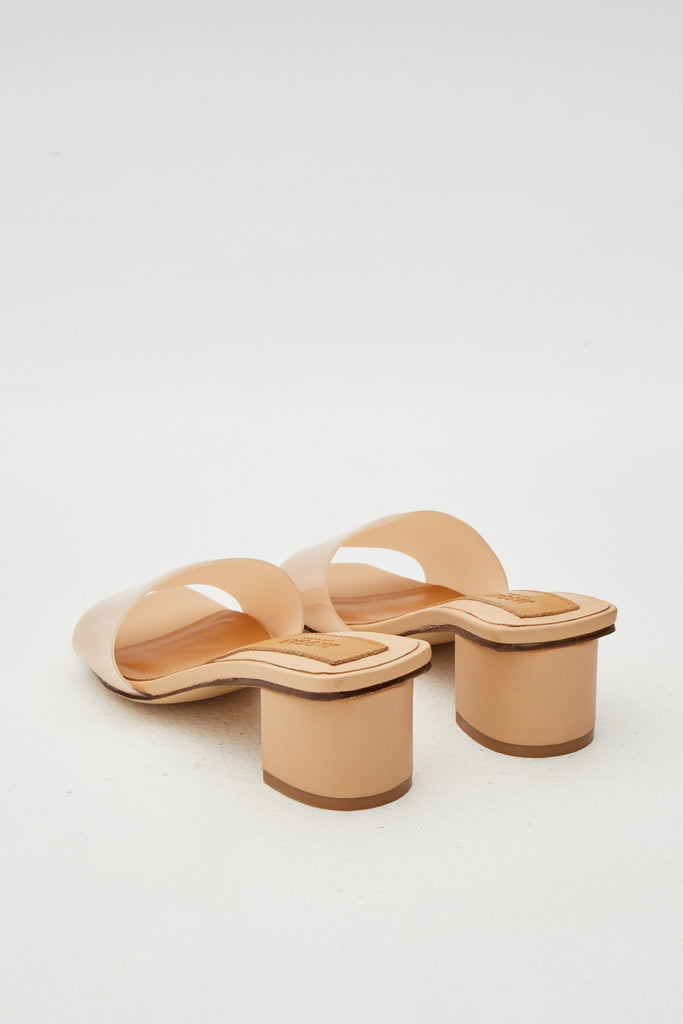 PVC LEATHER SLIDE nougat