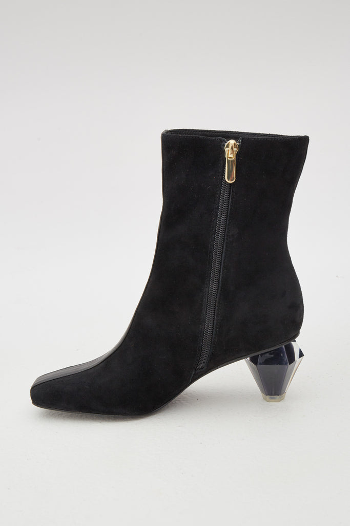 DIAMOND LEATHER BOOT black
