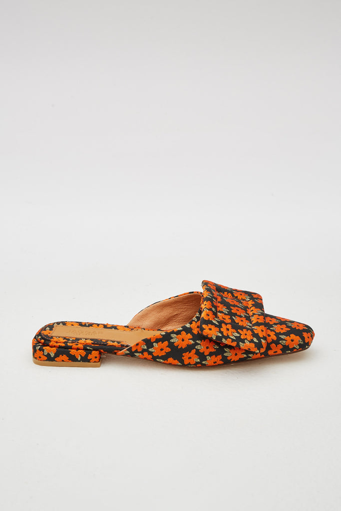 RECTANGLE FLORAL FLAT orange