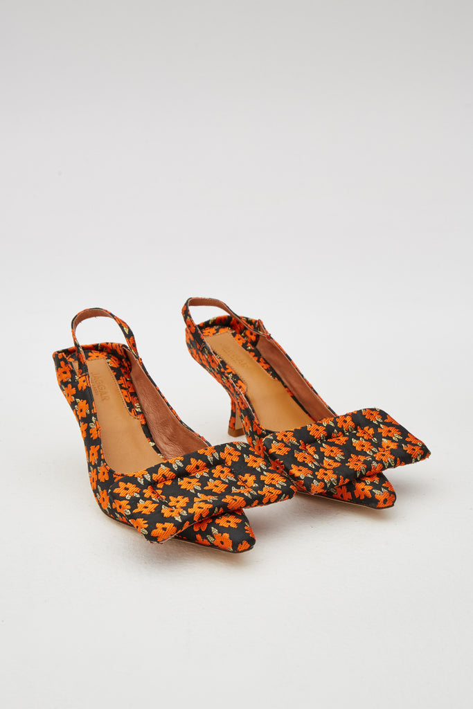 RECTANGLE FLORAL PUMP orange