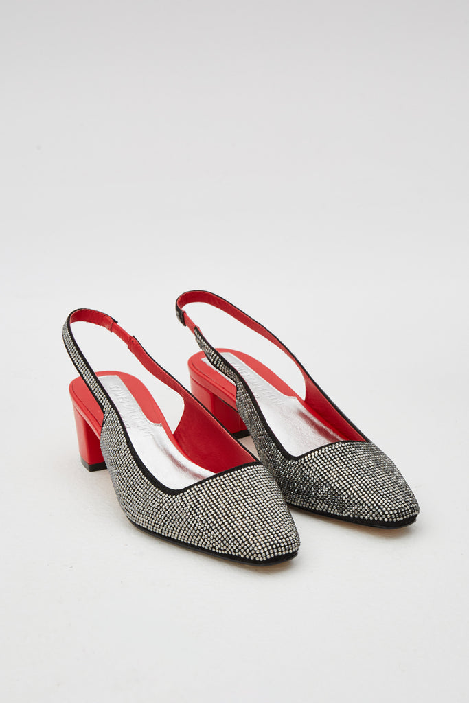 DIAMANTE SLINGBACK red