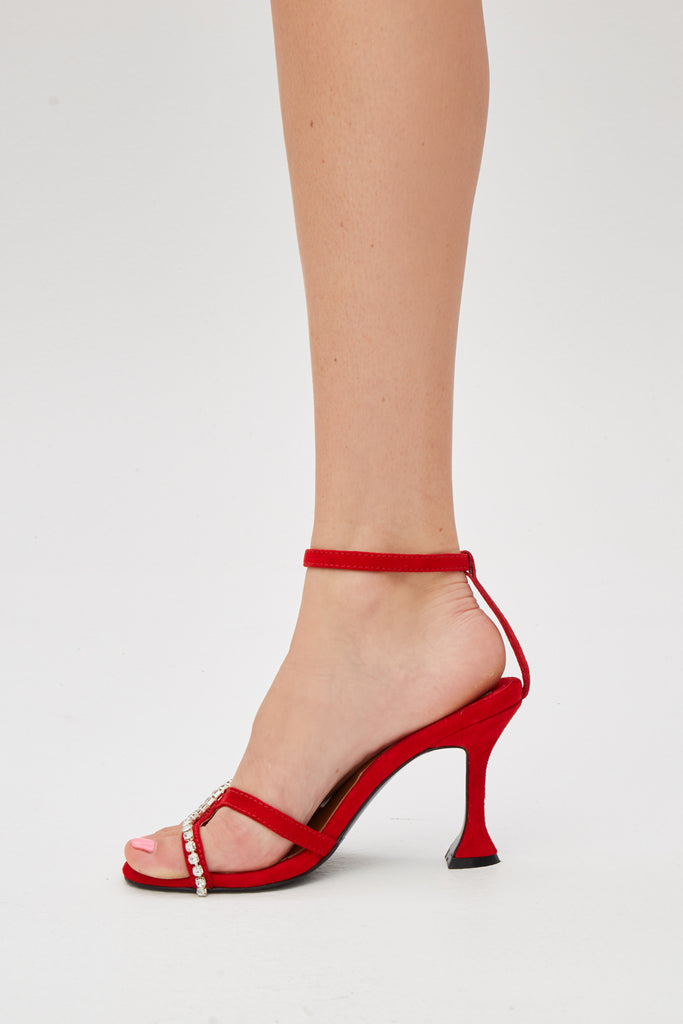 DIAMANTE SANDAL red