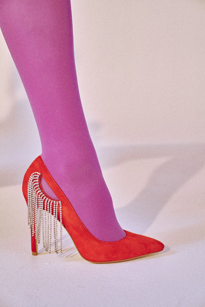 DIAMANTE PUMP red