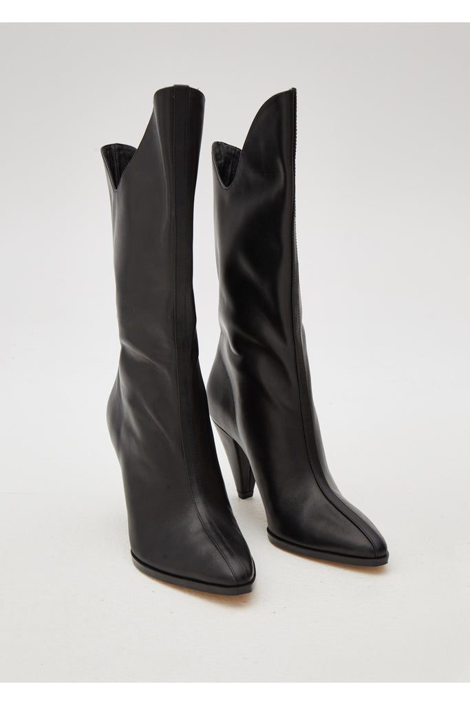 PINNACLE LEATHER BOOT black