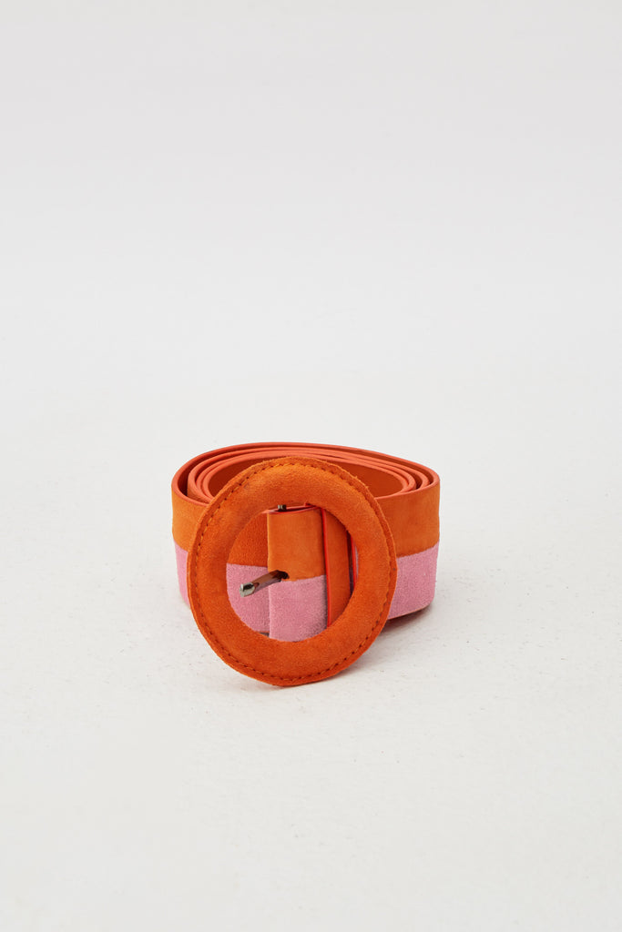 ROUND BUCKLE BELT pumpkin