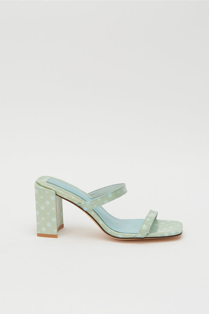 SQUARE SPOT HEEL blue