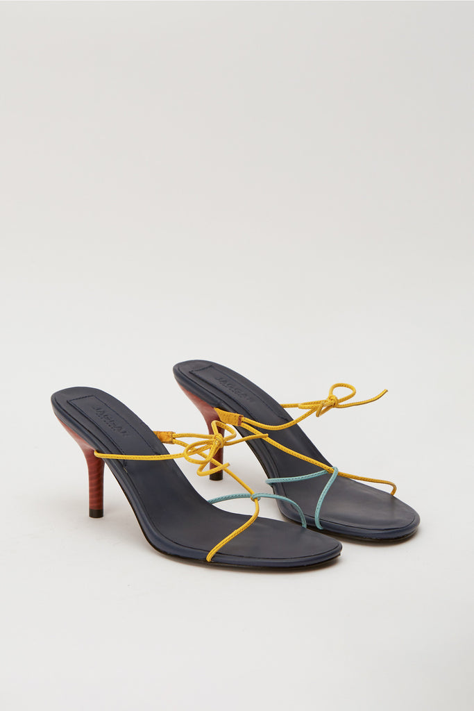 STRING SANDAL navy multi