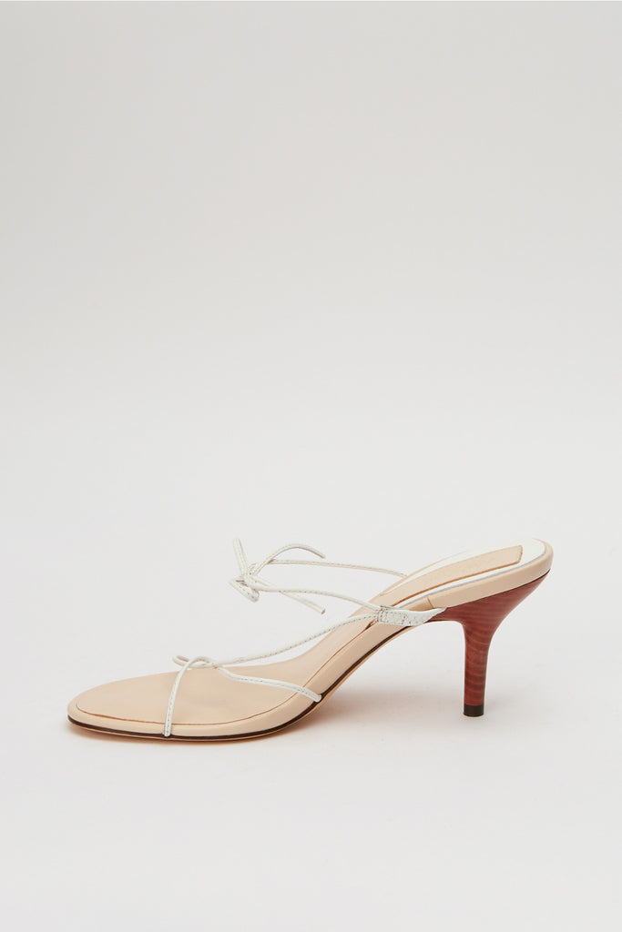 STRING SANDAL white