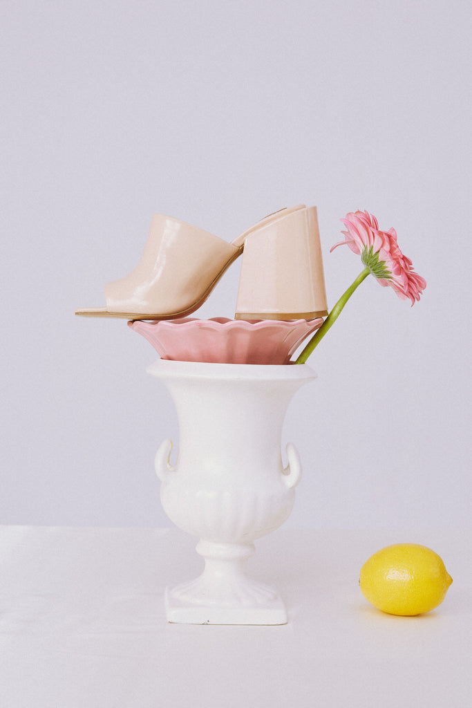 SOLID HIGH HEEL ivory cream