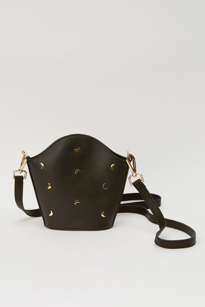 CROSSBODY MOON BAG black