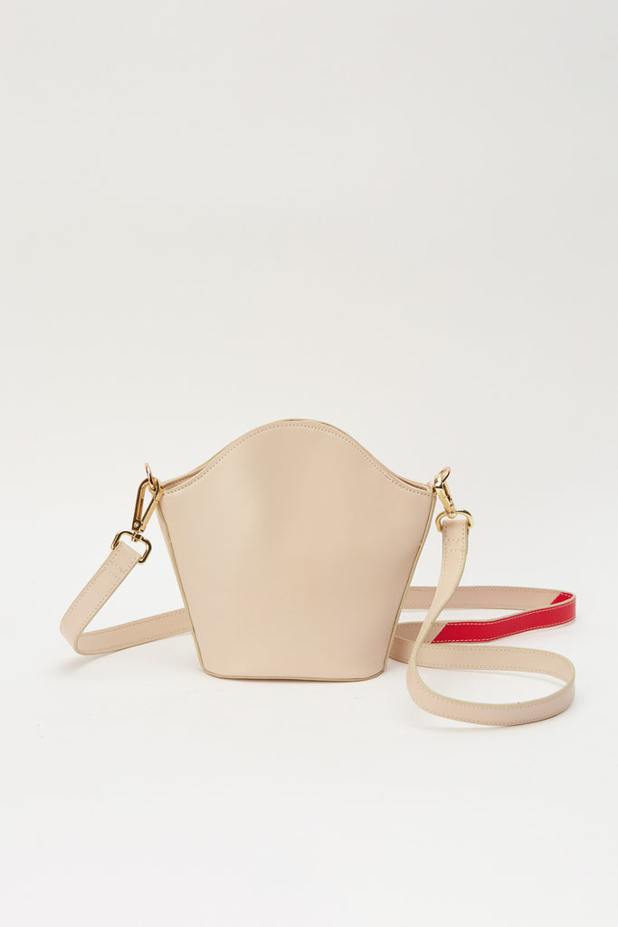 CROSSBODY LEATHER BAG ivory cream
