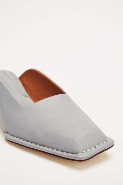 STITCHED MULE dove grey
