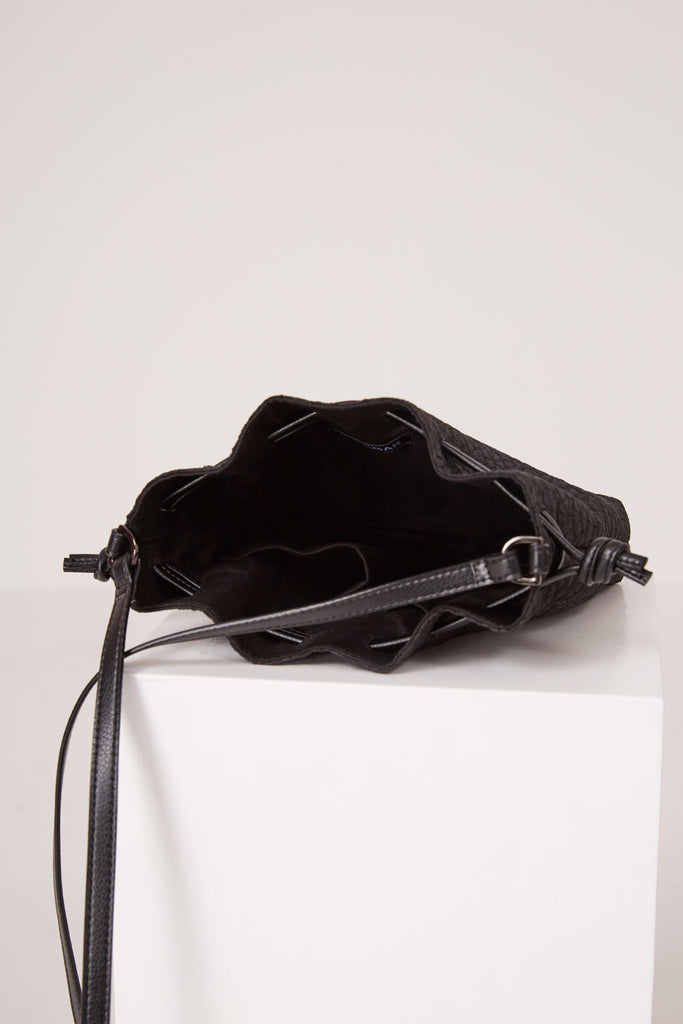 DRAW BAG FABRIC black