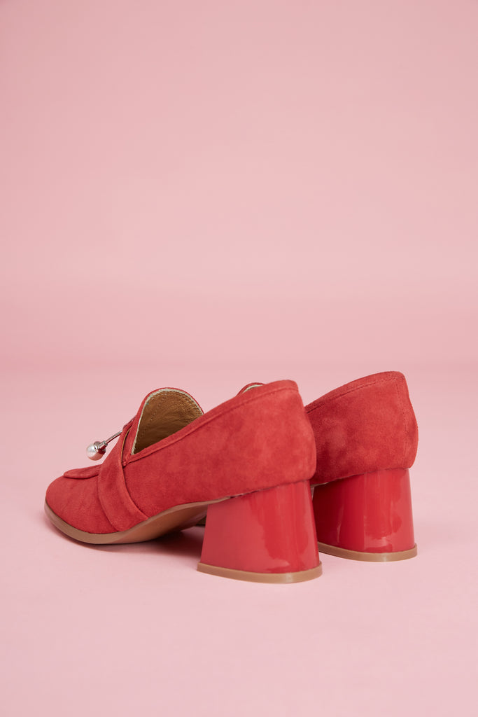 INTERMIX LOAFER HEEL red
