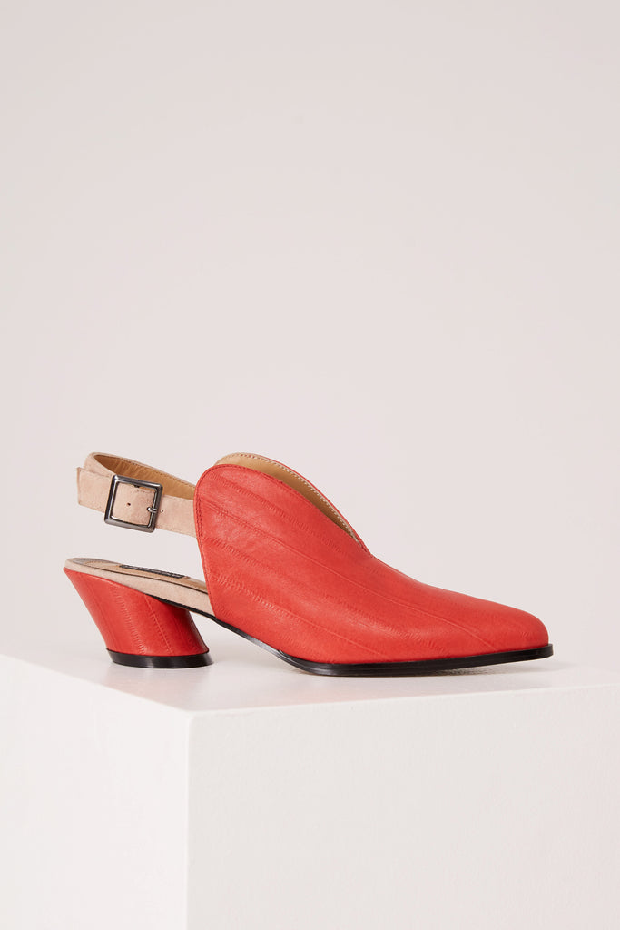 V-SLING BROKEN HEEL red