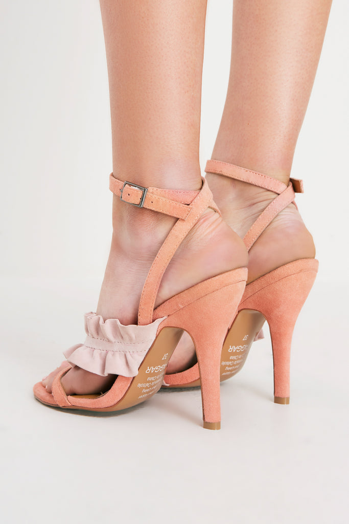 FRILL HEEL pale pink