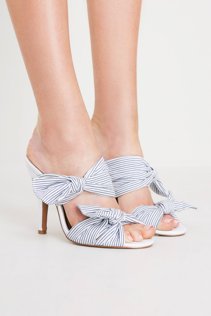 IN TOUCH STRIPED HEEL chalk