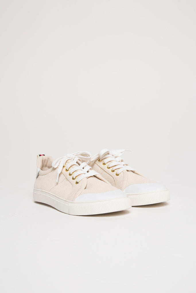 LACE ME UP SNEAKER oatmeal