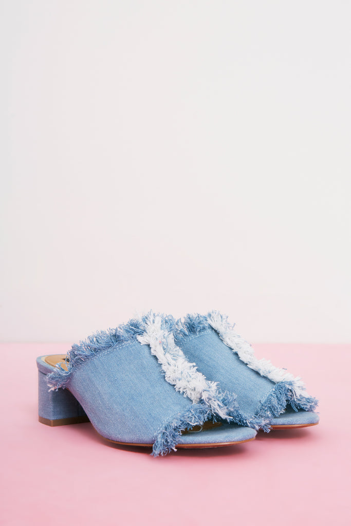 RESOLVE BLOCK HEEL denim