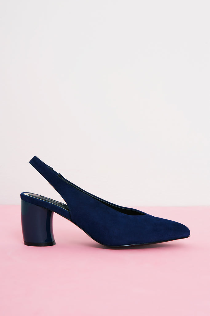 TEMPT CURVED HEEL navy