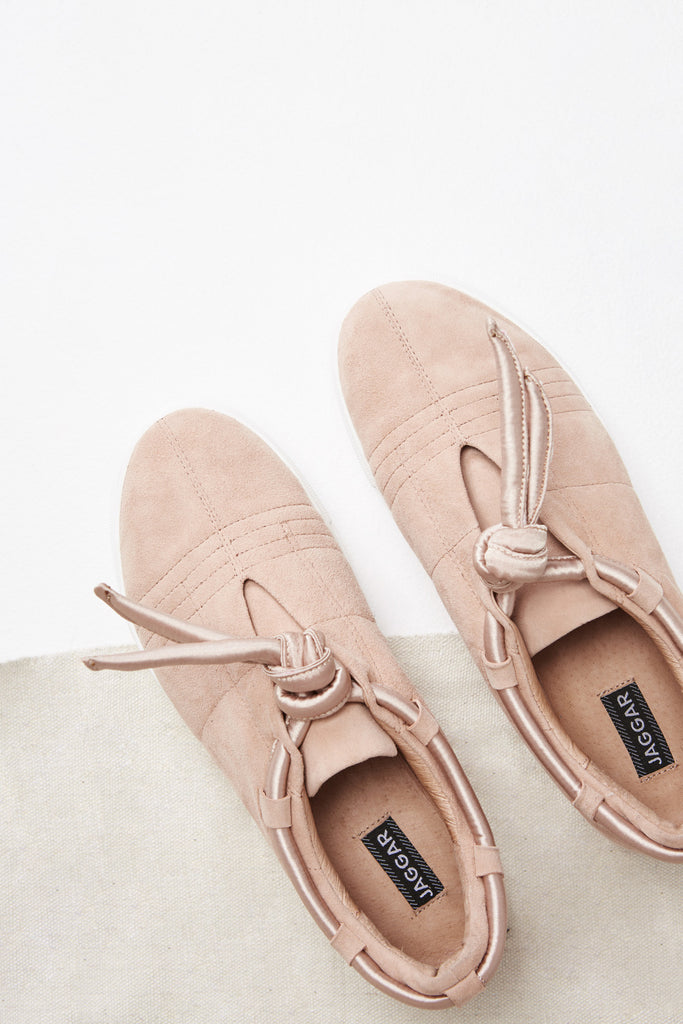 APPARITION SATIN SNEAKER nude