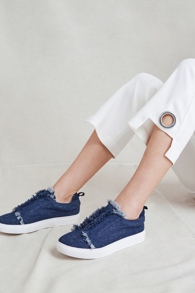 FRAY SNEAKER denim
