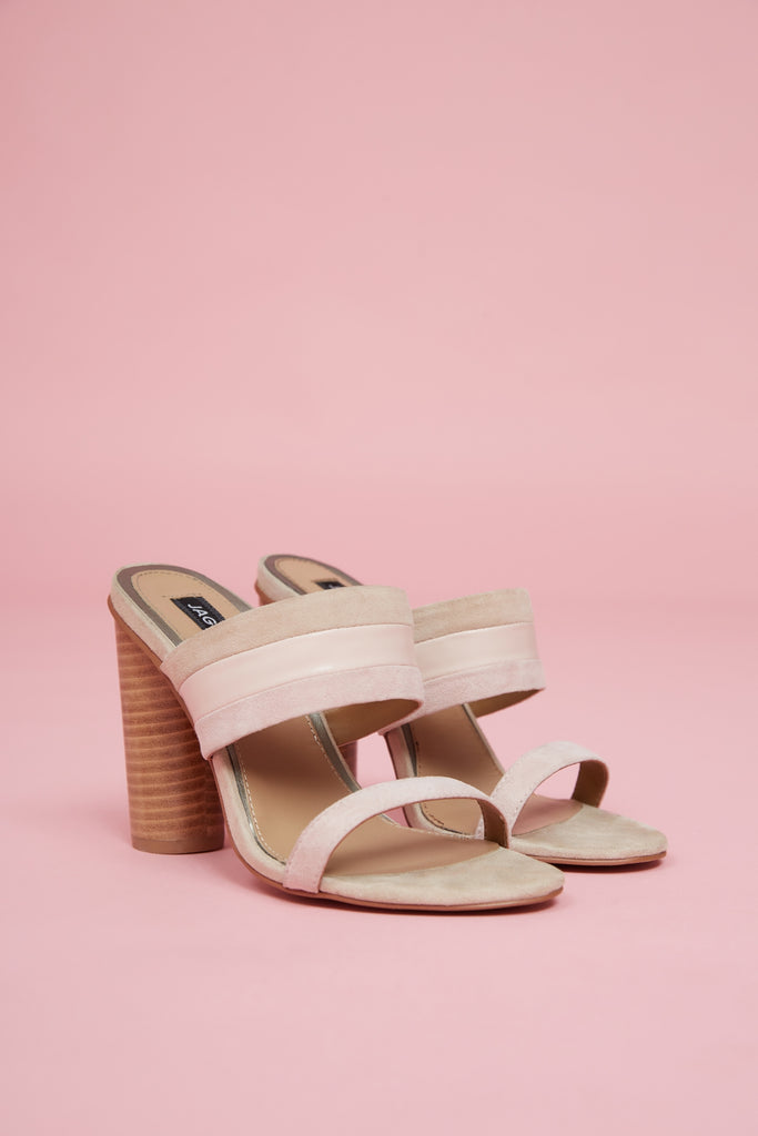 FUSION CYLINDER HEEL pale pink