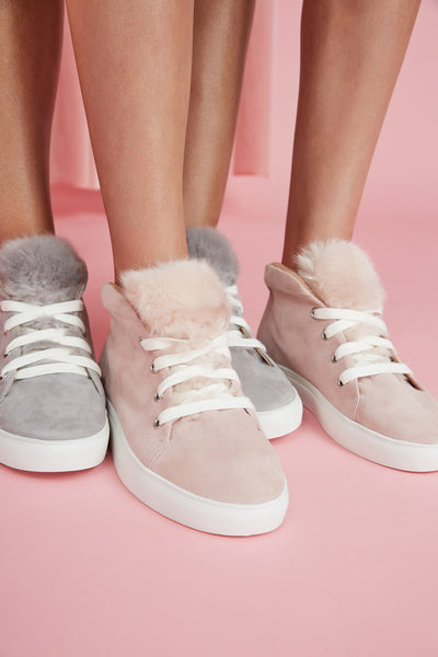 BOOTED SNEAKER pale pink