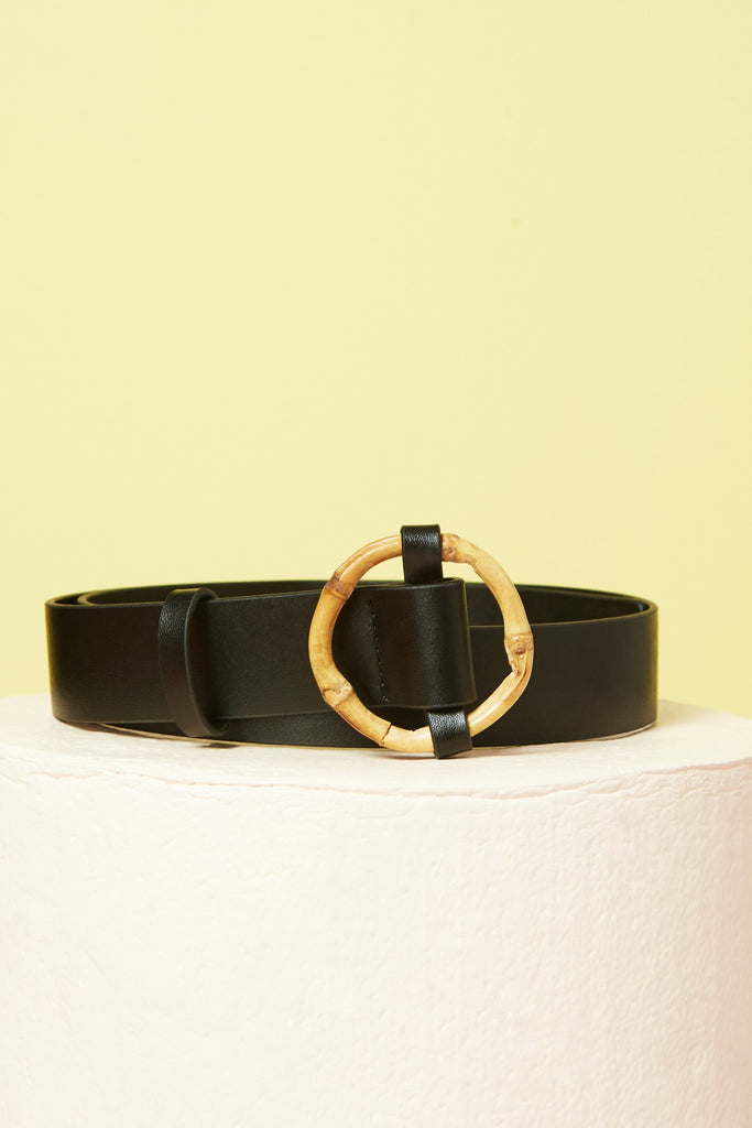 BAMBOO BELT black