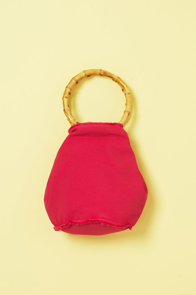 BAMBOO SATIN BAG magenta