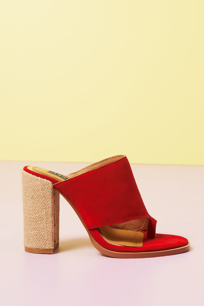 JUXTAPOSED NUBUCK red