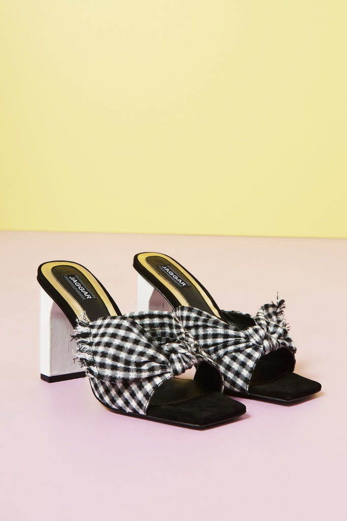 KNOT GINGHAM black