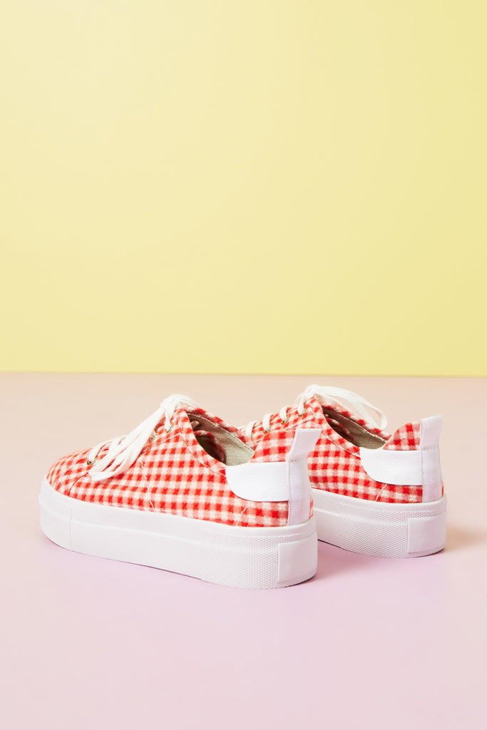 NOUGHT GINGHAM red