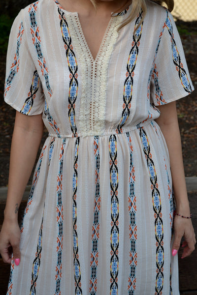 Navajo Print Dress
