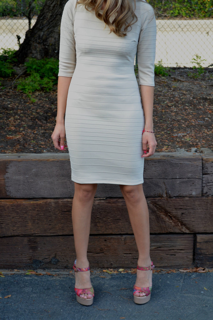 Textured Bandage Dress