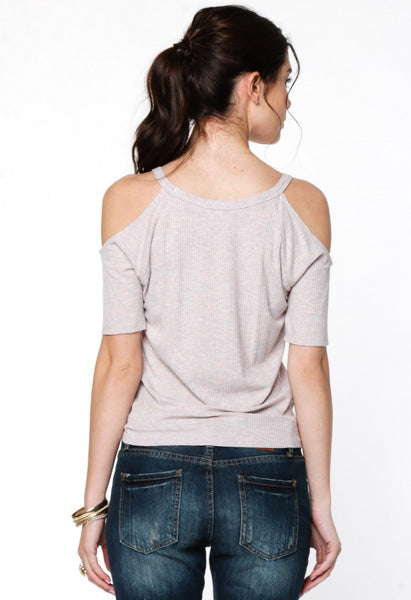 Casual Cold Shoulder Top