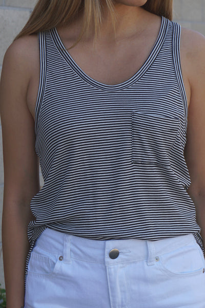 Striped Racerback Tank Top