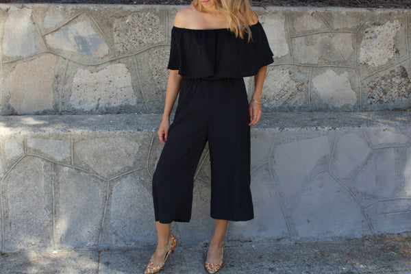 Off the Shoulder Culotte