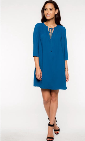 Double Twill Shift Dress