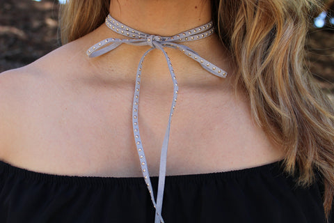 Faux Suede Chocker