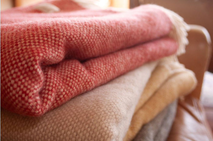 Station Lambs Wool Blankets