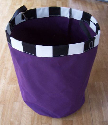 Purple with Striped Rim - Laundry Bag