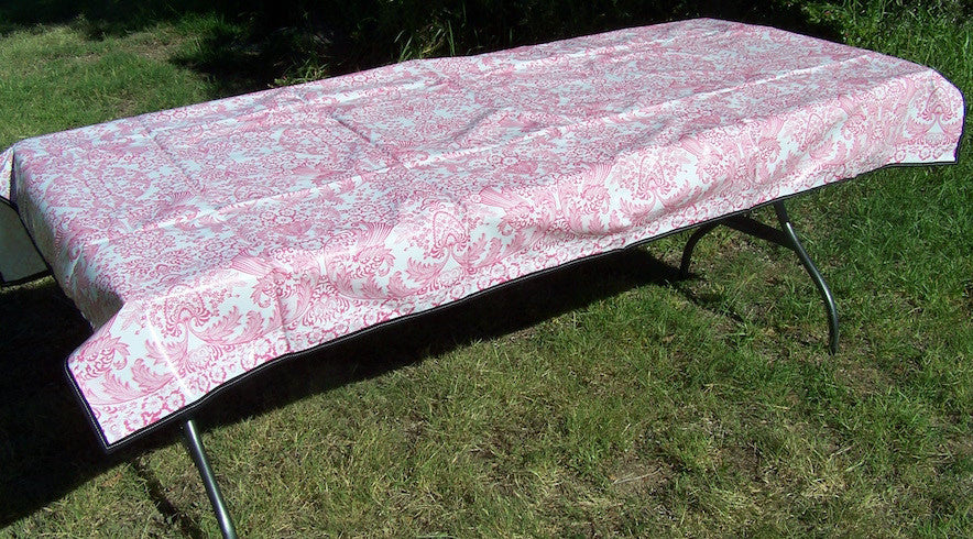 Red & White patterned tablecloth